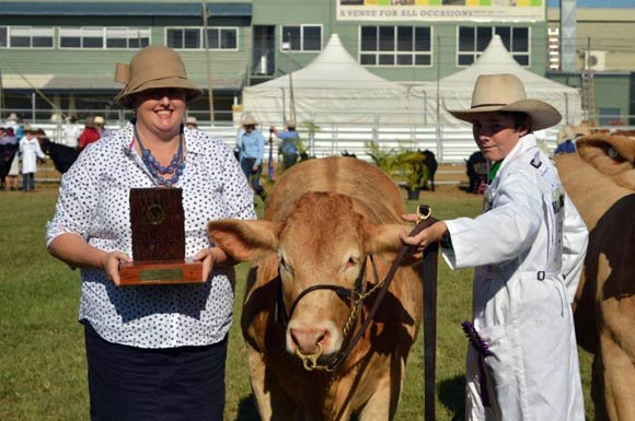 Beef Australia 2018 - Champion Calf Female Greenpark Lacey,Greenpark Charbrays.