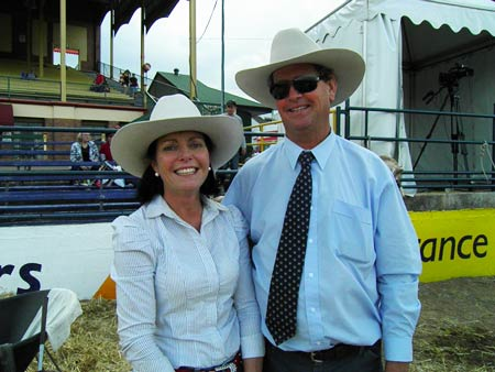 Rob and Denise Newcombe - Newcombe's Charbrays - Brisbane Royal Show 2011