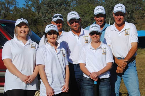 Team: Charbray Bulls, Haille Pailthorpe, Maddy Moir, Rod Price, Steve Pailthorpe, Helen Goody, Vernon Goody & Paul Knight.